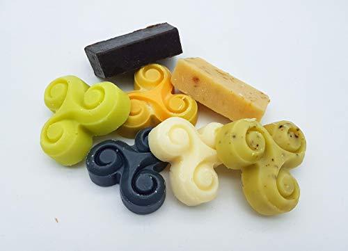 Haarseifen Testpaket – 5 Tester Haarwaschseife, Shampooseife, vegan, ohne Palmöl, ohne Plastik, handgemachte Naturseife, Haarseife von kleine Auszeit Manufaktur
