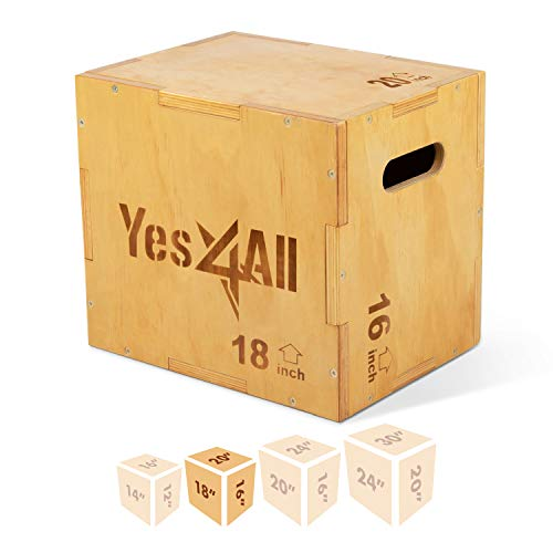 Yes4All Wood Plyo Box/Wooden Plyo Box for Exercise
