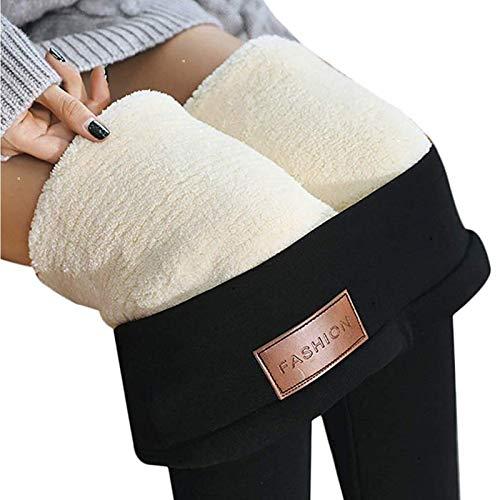 Super Dicke extra Dicke Lammwolle Leggings Hose, Damen Winter Enge Leggings mit hoher Taille, Stretch Velvet Slimming Strumpfhose (Color : A, Size : S)