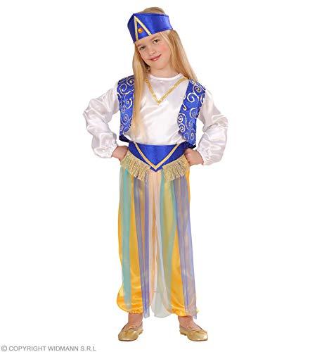 Widmann-WDM4912G kostuum voor meisjes, wit lichtblauw, groen, WDM4912G