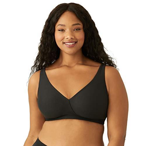 Wacoal womens How Perfect Full Figure Wire Free Bra, Black, 44C US