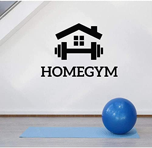 Gimnasio en casa decoración de la pared calcomanías fitness motivación sala de ejercicios decoración pegatinas dormitorio arte pegatinas murales papel tapiz extraíble 60X42Cm