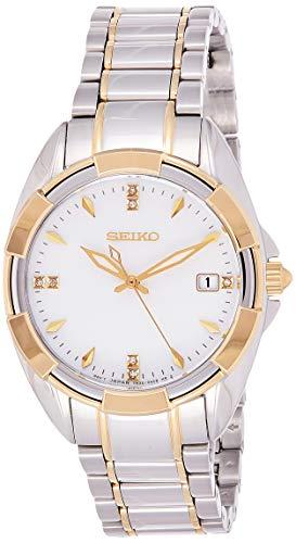 Seiko Quarz Damen-Uhr Edelstahl mit Metallband SKK886P1