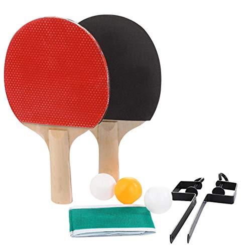 Garneck Tafeltennisset Pingpong Netto Pingpongpeddels Rackets en Pingpongballen Draagbaar Tafeltennisset Voor Thuis Buiten Spelen