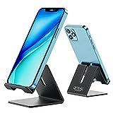 Urmust Z1 - Soporte de Escritorio Universal para teléfono móvil (Aluminio, Compatible con Todos los teléfonos Inteligentes Huawei iPhone X 8 7 6 Plus 5 iPad Mini Tablet Office Decoration)