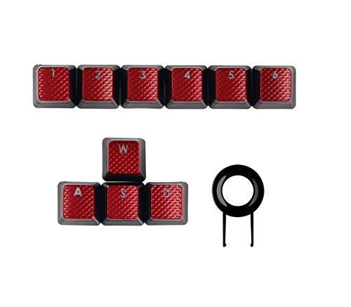 FPS hintergrundbeleuchtete Tastenkappen für Corsair K70RGB K70 K95 K90 K65 K63 Gaming-Tastaturen Cherry Key Switch - rote Tastenkappen