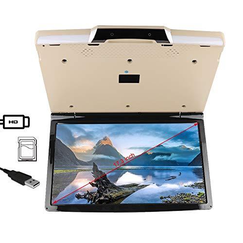 Auto gemonteerde tv, 17,3 inch universele plafond gemonteerde tv 1080p draadloze auto tv MP5-speler voor Android 7.1-systeem