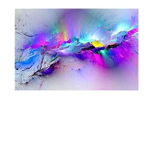 MJJEsports Abstract Wolken Kleurrijke Canvas Schilderen Moderne Muur Foto's Voor Woonkamer Huis Decor Papier, 2, 1