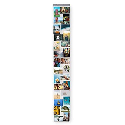 Lumaland Fotovorhang Collage für Bilder und Fotos, Hoch- und Querformat mit 28 Taschen, für 10 x 15 cm Fotos