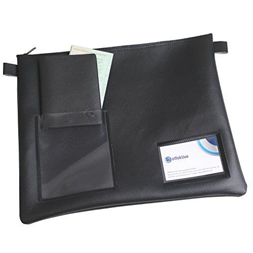 XL effektivo Tasche für Fahrzeugpapiere mit 2 Sichtfenstern, Maße 34 x 26 cm