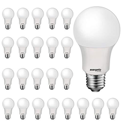 24 Pack LED Light Bulbs, 60 Watt Equivalent A19 LED Bulb, Soft White 2700K, Non-Dimmable, E26 Base, UL Listed, 15000 Hrs, Standard Light Bulbs