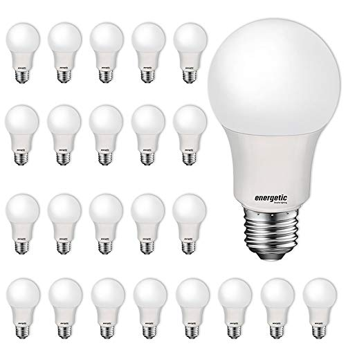 24 Pack LED Light Bulbs, 60 Watt Equivalent A19 LED Bulb, Soft White 2700K, Non-Dimmable, E26 Standard Base, UL Listed, LED Light Bulb