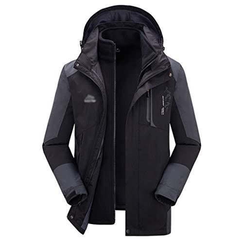 HJHHJHAB regenjas voor heren, 3-in-1 jas voor buiten, fleece-mantel, winddicht, camping, tourisme