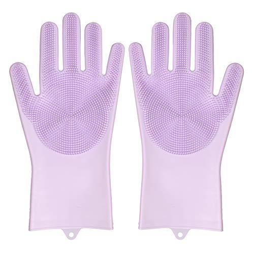 M&J ペットブラシ グローブ 手袋 ペット シャワーブラシ マッサージ手袋 犬猫通用 柔らかい お手入れ簡単 泡たっぷり 耐久性抜群