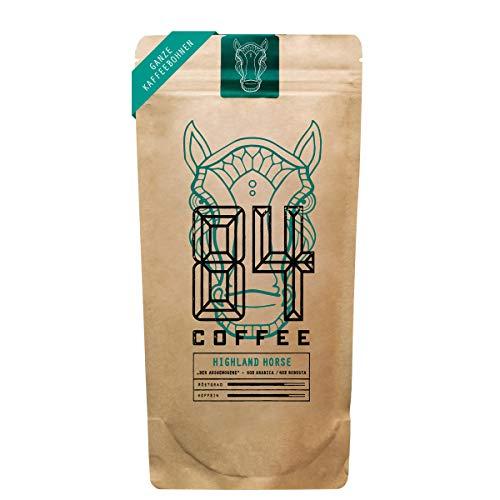 84 Coffee - Vietnamesischer Espresso Blend - Highland Horse - Dunkel geröstet - fairer & direkter Handel - frisch & schonend geröstet - Kaffeebohnen (250g)