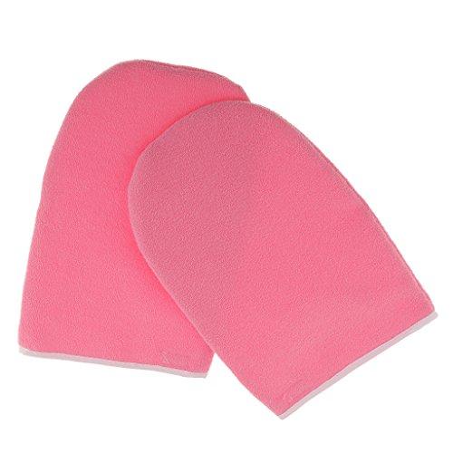 1 Paar Paraffinwachs Spa Handschuhe Feuchtigkeitsspendende Handschuhe, Handmaske, Hand Peeling Maske Gloves, Handpflege, Rosa