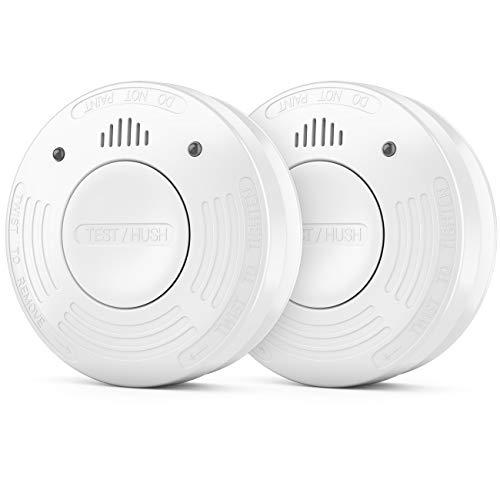 deleyCON 2X Rauchmelder VDs Zertifiziert + DIN EN 14604 10 Jahres Batterie Fotozellen Sensor Rauchwarnmelder Feuermelder Brandmelder Wohnung Haus