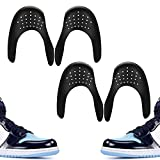 Comfowner Shoe Crease Protectors Toe Box Decreaser Prevent Shoes Crease Indentation Anti-Wrinkle Shoes Creases Protector Men's 7-12/ Women's 5-8(2 Pairs Black)
