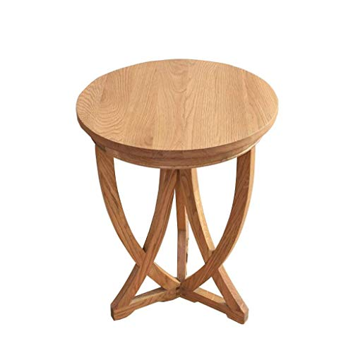HYY-YY Coffee table American country solid wood small round table simple bedside table