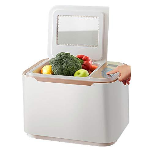 JFF Lavadora Limpiadora De Frutas Y Verduras Lavadora Sónica De Salud De Uso Doméstico De 12 L, Lavadora De Frutas Y Verduras De Triple Purificación