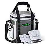 CACTUS Mojave 23 Party Kit - Insulated Soft Cooler/Non-Permeable/Long Lasting Cold Tech + Free Bonus Items: Soft Cold Pack, Neo Drink Holders, Stainless Opener w/Magnetic Front Panel (Daiquiri Green)