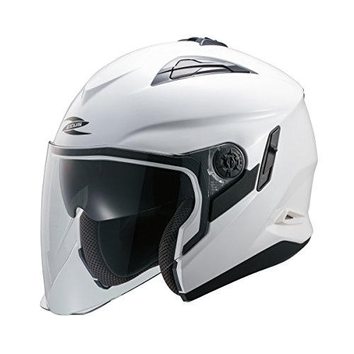 南海部品(ナンカイ)ZEUS(ゼウス)NAZ-221 ジェットヘルメット パールホワイト XLサイズ インナーバイザー装備 NAZ221WHXL