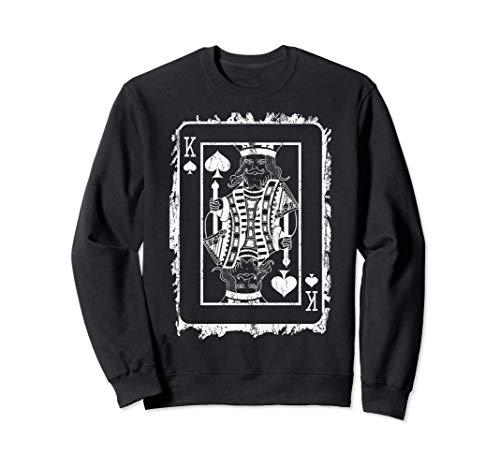 KING PLAYING CARD Sweater Poker Gift Poker Player Sweatshirt