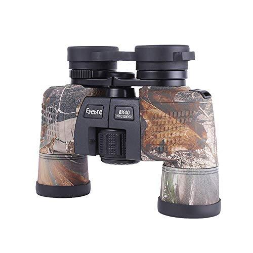 Fofofs Binocolo Mimetico Binocolo Esterno Portatile 8X40 HD con Grandi oculari for Adulti Bambini Birdwatching Escursionismo