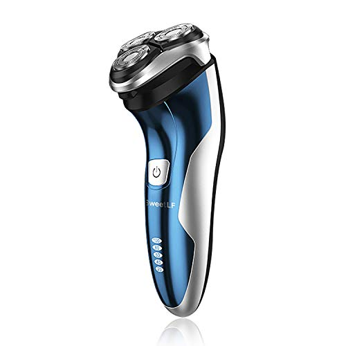 SweetLF Electric Shaver Rotary Shaver for Men Wet Dry Waterproof 2 in 1 Beard Trimmer Cordless...