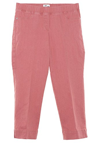 Kj Brand Jenny 7/8 Jeans Jeggings Komfortbund Hose Damen Slim Stretch Plusgröße, Farbe:rot, Damengrößen:46