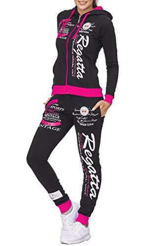 Violento Damen Trainingsanzug | Regatta 672 | Schwarz-Pink | M