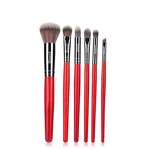 Pinceaux Maquillage Set 6 bâtonnets d'outils de maquillage pour pinceaux de maquillage rouge chinois