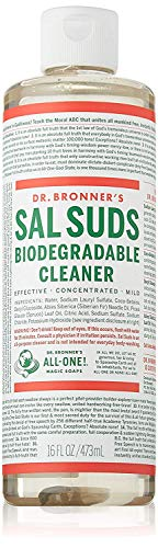 Dr. Bronner's - Sal Suds Biodegradable Cleaner (16 Ounce) - All-Purpose Cleaner, Pine Cleaner for Floors, Laundry and Dishes, Concentrated, Cuts Grease and Dirt, Powerful Cleaner, Gentle on Skin
