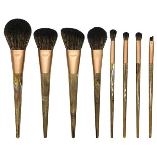 8 Pcs Pinceau Maquillage, DENGZI Ombre à PaupièRes Brush Tool Brush Set De Pinceau De Maquillage Beauté