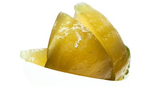 1001 Frucht Zitronat am Stück I Aromatische Kandierte Zitronenschalen der Zitronatzitrone halbe Scheiben I Fruchtige Kandierte Früchte aus Italien als Backzutat oder gesunde Nascherei I 500 GR