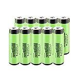 ZhanMazwj 18650 baterías recargables 3.7v 3400mah batería de litio de ion de litio, baterías NCR18650B con placa PCB para faro 10pcs