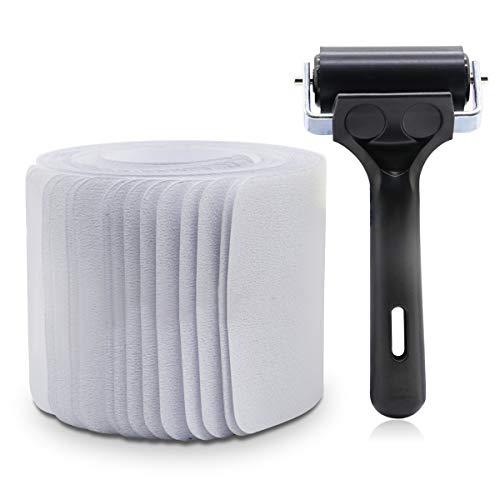 BOMEI-PACK Cinta antideslizante para peldaños de escalera de 10 x 60 cm (15 unidades), transparente antideslizante precortado con rodillo