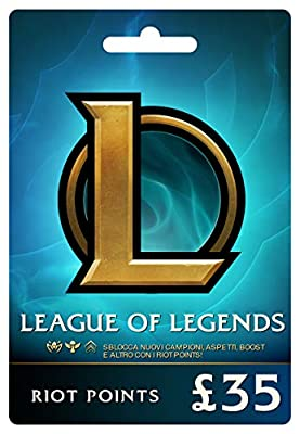 League of Legends £35 Prepaid Gift Card (5480 Riot Points)