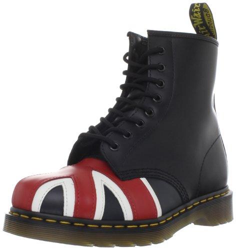 Dr. Martens 1460, Chaussures Bateau Mixte, Noir (Black Smooth), 42 EU