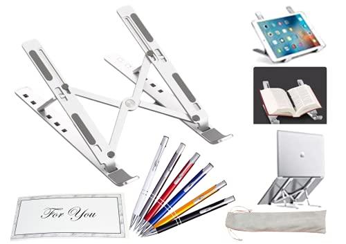 TradeProvider - Soporte para ordenador portátil, con tarjeta de notas y bolígrafo surtidos, soporte para ordenador portátil, soporte para escritorio, lapdesks, para exteriores, hogar y oficina