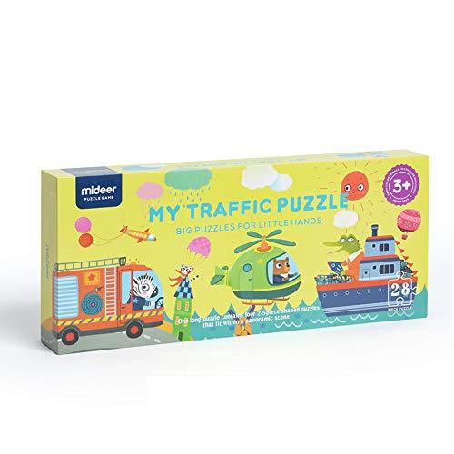 MiDeer ジャイアントフロアパズル 子供用 交通パズル 早期学習おもちゃ
