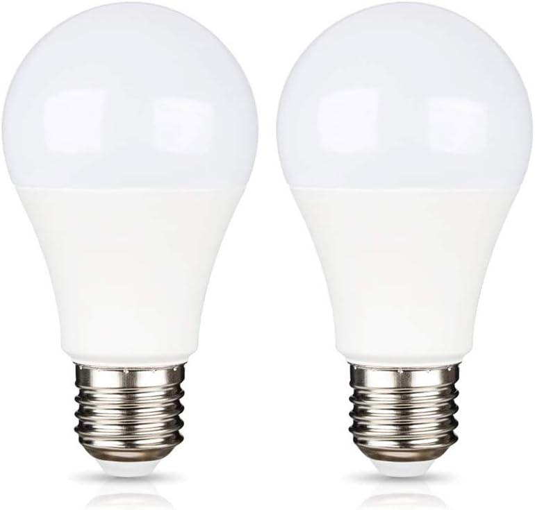 E27 LED 12V 9W Luz Cálida 3000K para Camper, Equivalente Halógena de 75W, Bombillas LED CC DC 12 Volt 24 Volt E27 Casquillo para Garaje/Panele Fotovoltaico/Casita, no regulable, pack de 2