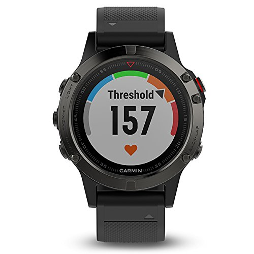 Garmin fēnix 5Sapphire Bluetooth Black Sport Watch–Sport Reloj (Black, Polymer, Stainless Steel, Water Resistant, Silicona, Sapphire, 10ATM)