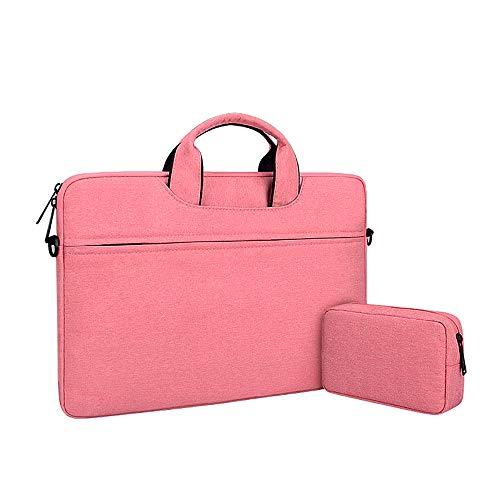 13.3-15.6inch laptoptas, schoudertas, multifunctionele notebooktas, draagtas, roze, 15,4 inch
