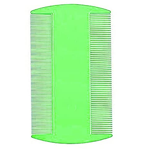 Sanfiyya Flohkamm Pet Lice Combs Double Sided Nit Comb Lice Dectection Kopfbehandlung für Hund Katze Haustier Grün