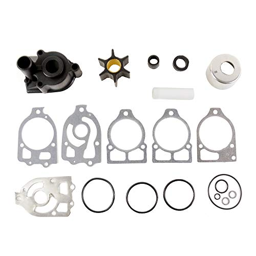 MSQ-CD Water Pump Impeller Repair Kit with Housing for Mercury Mercruiser Outboard and Alpha One Stern Drive V6 Part# 46-96148A8 46-96148T8 46-96148Q8 18-3217 18-3316