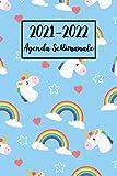 2021-2022 Agenda Settimanale: Unicorno Diario, Pianificatore, con Calendario   A5 (6x9) - Regalo per Donne, Ragazze