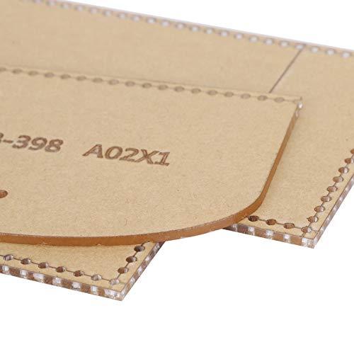 Plantilla de acrílico para monedero, plantilla de acrílico transparente para bricolaje, resistente, duradero, práctico, transparente para cortar cuero para bricolaje para billetera acrílica