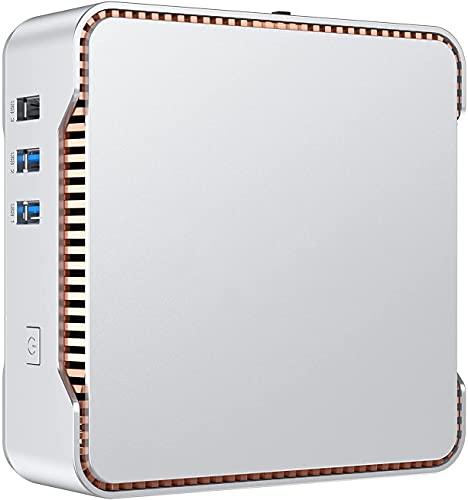 NiPoGi Mini PC,12GB DDR4/128GB ROM Windows 10 Pro Intel Celeron J4125 Mini Ordenador[Soporte de Pantalla triple/4K HD/Gigabit Ethernet/Dual Band Wi-Fi/BT 4.2/Montaje VESA]