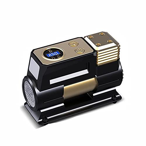 SXTYRL Aire Compresor, Compresor De Aire Portátil, Bomba De Neumático Eléctrico Digital con Presión, Motocicleta, Negro